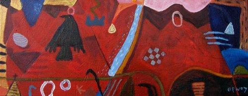 rook (acrylic on canvas; 50x20cm; 2007)