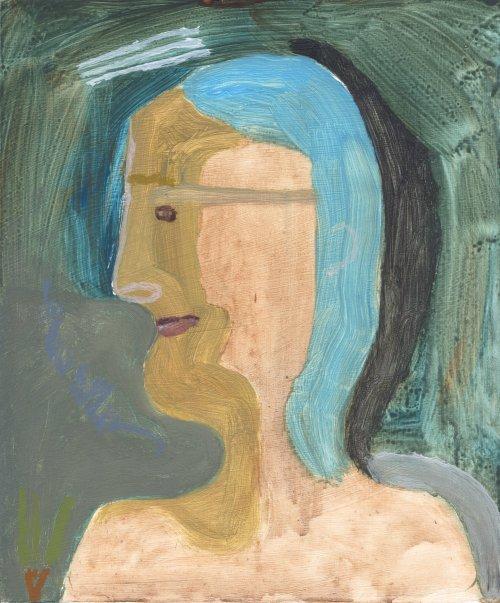 girl (acrylic on board; 24x20cm; 2007)