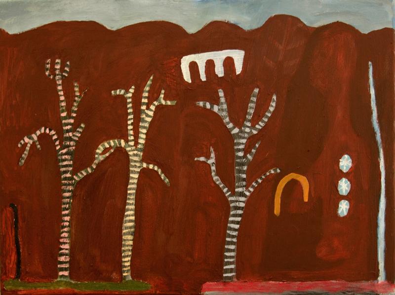 family trees (oil on canvas; 40x30cm) 2008