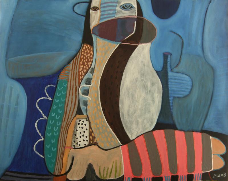 festival dreams (oil on board; 122x95cm) 2008