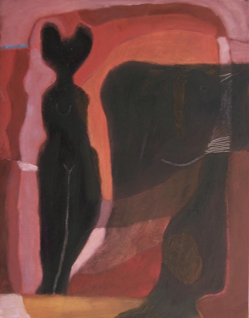 goddess form (oil on board; 31x40cm) 2007