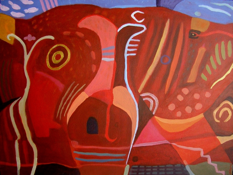 red bull (acrylic on canvas; 46x60cm) 2006 sold