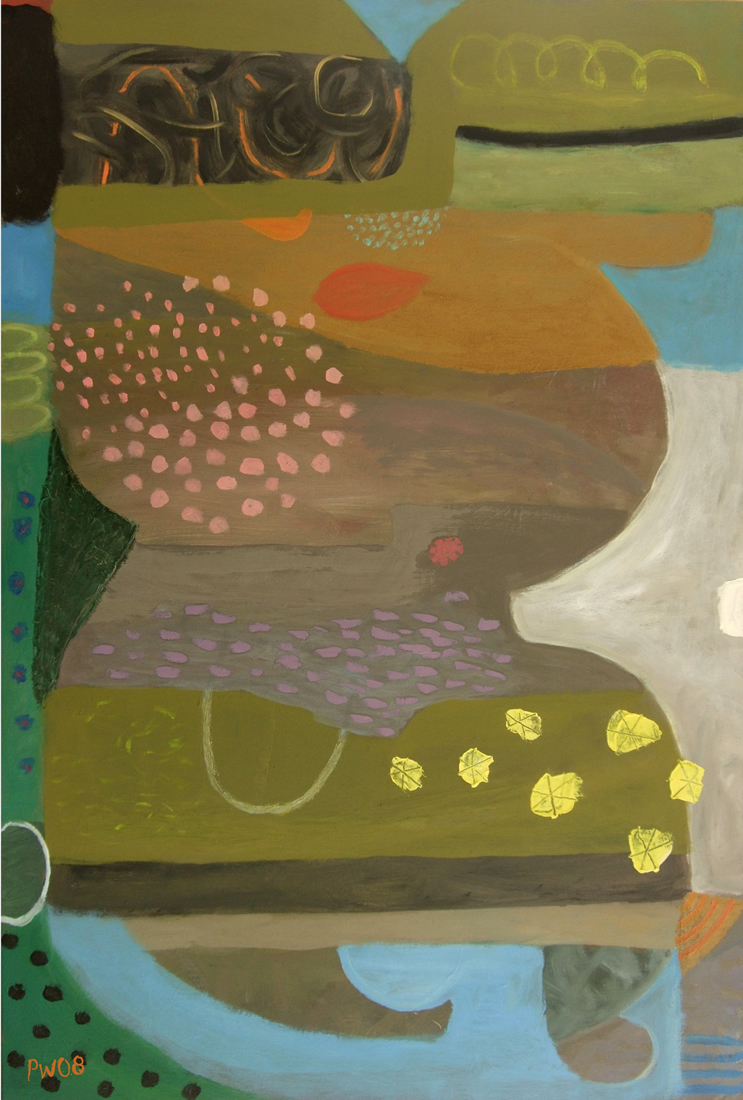 seeing flowers walk to the sea (oil on canvas; 61x91cm) 2008