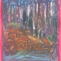 little people (oil pastel on paper; 10x15cm; 1996)
