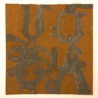 01 big truncheons (Cornish earth pigments on salvaged card;24x25cm)