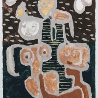 13 kyjyanss / intercourse (Cornish earth pigments on paper; 43x56cm)