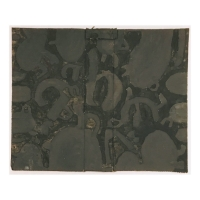 08 2 blacks - Devon and Cornwall (Bideford Black and Botallack Black earth pigments on salvaged card; 60x50cm)