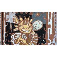 002 International Women's Day (Cornish earth pigments on paper; 80x56cm)