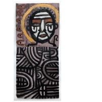 009 Saint Piran 2 (Cornish earth pigments on salvaged card; 29x63cm)