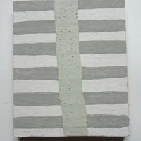 grey, green, white, mauve III (Cornish earth pigments on wood; 20x25cm) © p ward 2018