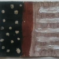 046-stars-and-stripes-Cornish-earth-pigment-egg-tempera-on-paper-16x14cm-©-p-ward-2019