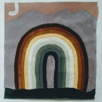 001 earth rainbow arcobaleno di terra (Cornish-earth pigments on paper; 28x31cm)