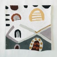 020 clap hands (Cornish earth pigments on paper; 28x28cm)