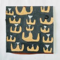 021 sailing boats (Cornish earth pigments on paper; 28x28cm)