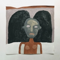 025 grief (Cornish earth pigments on paper; 28x28cm)