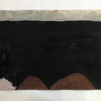 032 accepting an aloneness anew, a work in progress (Cornish earth pigments on paper; 56x38cm)