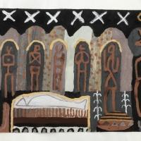 040 a-wake (Cornish earth pigments on paper; 56x40cm)
