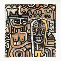 059 hereditary (Cornish earth pigments on paper; 54x56cm) © p ward 2020