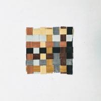 063 earth weave 1 (Cornish earth pigments on paper; 13x13cm) © p ward 2020