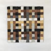 069 earth weave 3 (Cornish earth pigments on paper; 26x26cm) © p ward 2020