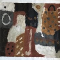 071 backdrop (North Devon earth pigments on unstretched canvas; 100x80cm) © p ward 2020