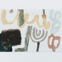 03 old words, new language (Cornish earth pigments on watercolour board; 23x15cm) © p ward 2020
