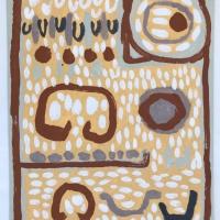 15 trevethow/home (Cornish earth pigments on watercolour board; 30x41cm) © p ward 2020