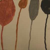 balloons (earth pigments on paper) 2008