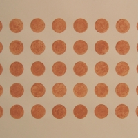 40 dots, Brendon Common (earth pigment; 76x56cm) 2008