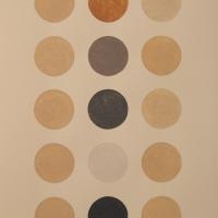 5 colours, 3 columns (earth pigments; 35x53cm) 2008