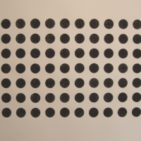 84 black dots (bideford black on paper; 60x42cm) 2008