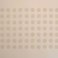84 white dots (ball clay on paper; 60x42cm) 2008