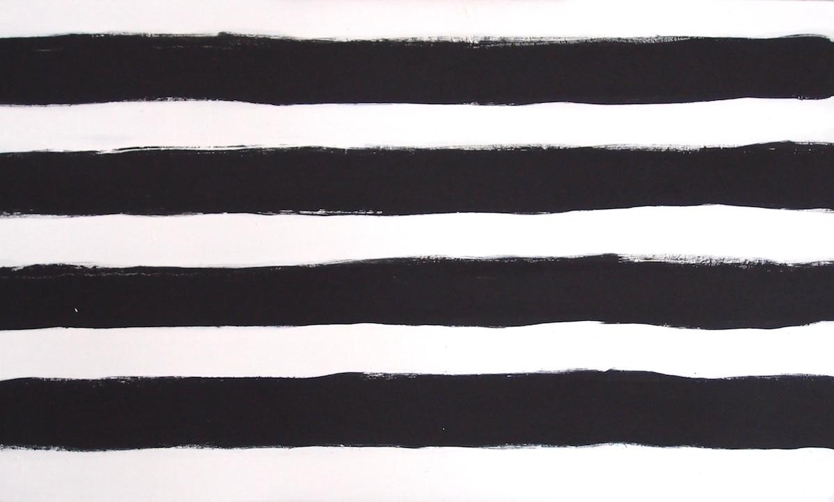 black painted horizontals (bideford black on canvas) © p ward 2014