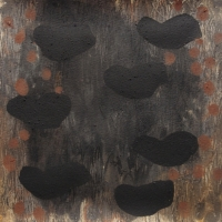 back to basics 2 - black form  dreaming (earth pigments on watercolour paper) @ p ward 2015