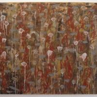 bonk! (250x150cm; earth pigments and rabbit skin glue on canvas) © p ward 2015
