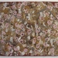 indigo (90x70cm; earth pigments with gum arabic and rabbit skin glue on driftwood board) © p ward 2015