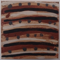inward boundless III (earth pigments on canvas; 20x20cm) © p ward 2016