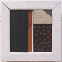 offcuts in an offcut frames i - gloss (earth pigments and household paint on wood) © p ward 2016 (private collection)