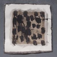 personal exploration 3 (bideford black and pva on paper; 56x56cm) © p ward 2014