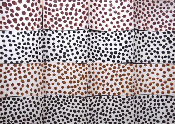 earth dots (north devon pigments on paper) © p ward 2016