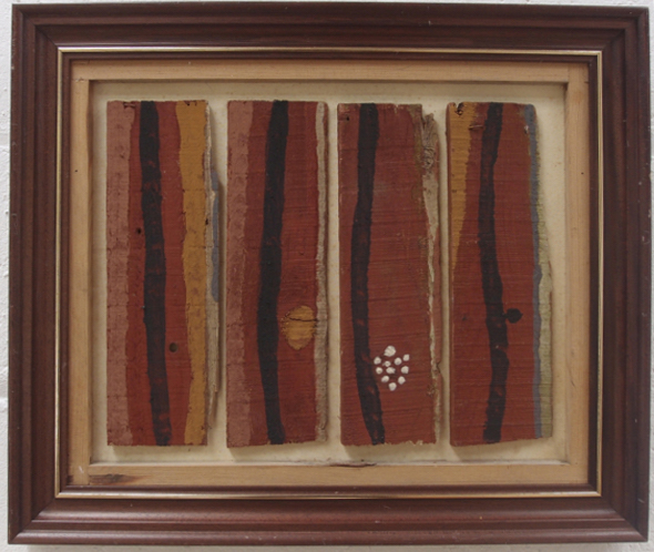 four sails (earth pigments on wood and canvas in re-used frame) © p ward 2016