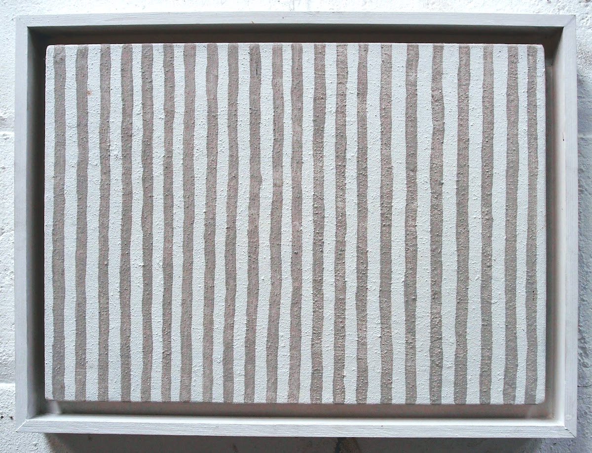 grey painted verticals (earth pigments on canvas) © p ward 2014