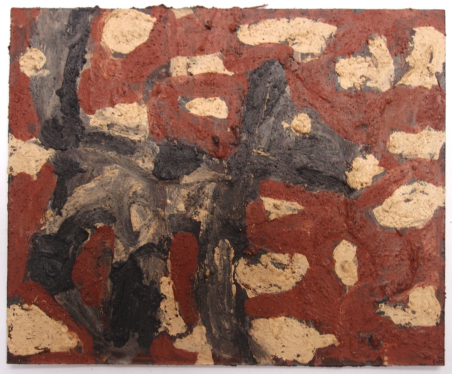 lupo/Wolf/loup/wolf (earth pigments on board) © p ward 2017