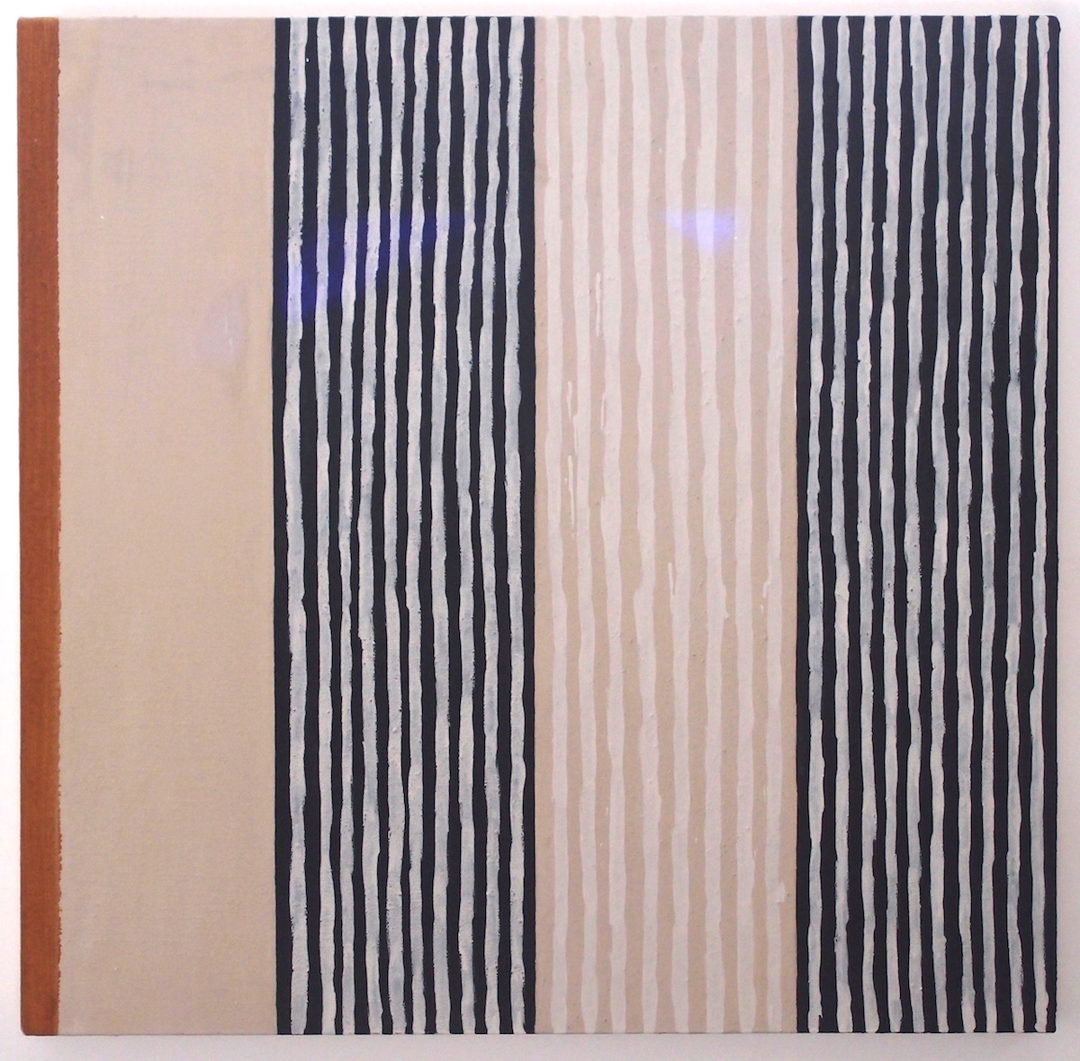 painted verticals (earth pigments on canvas; 90x90cm) © p ward 2014
