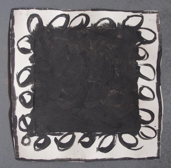 personal exploration 2 (bideford black and pva on paper; 56x56cm) © p ward 2014