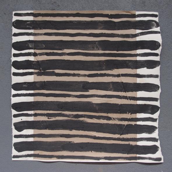 personal exploration 4 (bideford black and pva on paper; 56x56cm) © p ward 2014