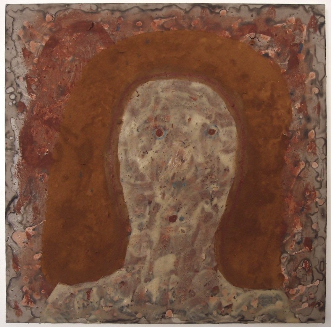 storyteller 3 (50x50cm; earth pigments with gum arabic and rabbit skin glue on canvas) © p ward 2015