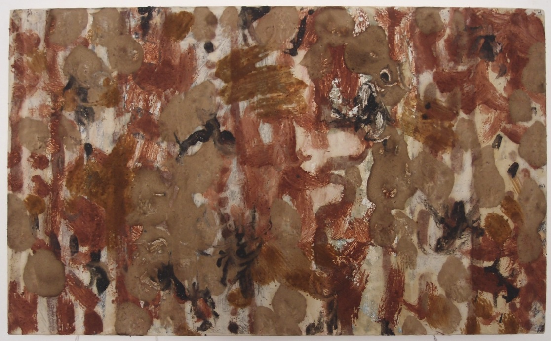 vernal equinox 1 (51x31cm; earth pigments with gum arabic and rabbit skin glue on canvas) © p ward 2015